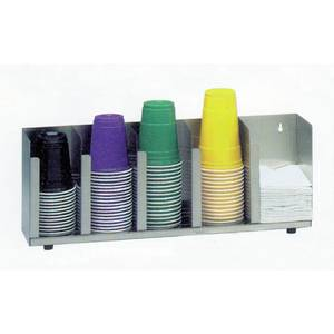 ORGANIZER, 3-SECTION / STRAW HOLDER SS