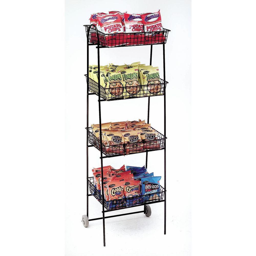 Wirecraft Espresso Wire Basket Floor Stand - 16 1/2\