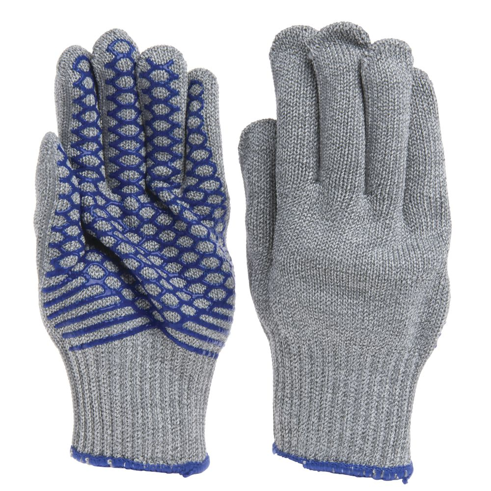 Ritz® Grey Knit Cut Resistant Gloves with Silicone Grip - Extra Large