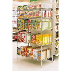 "SHELVING UNIT, 48X18X63"", 4SHELVES, SUP ADJ"