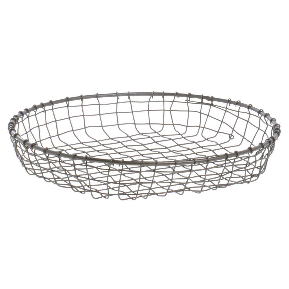 Expressly HUBERT Round Steel Wire Basket - 12Dia x 2H