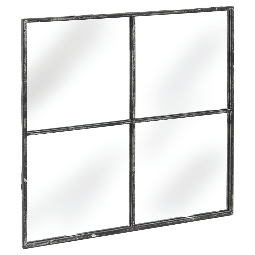 MIRROR, METAL, FOUR PANE, 31-1/2 X 31-1/2