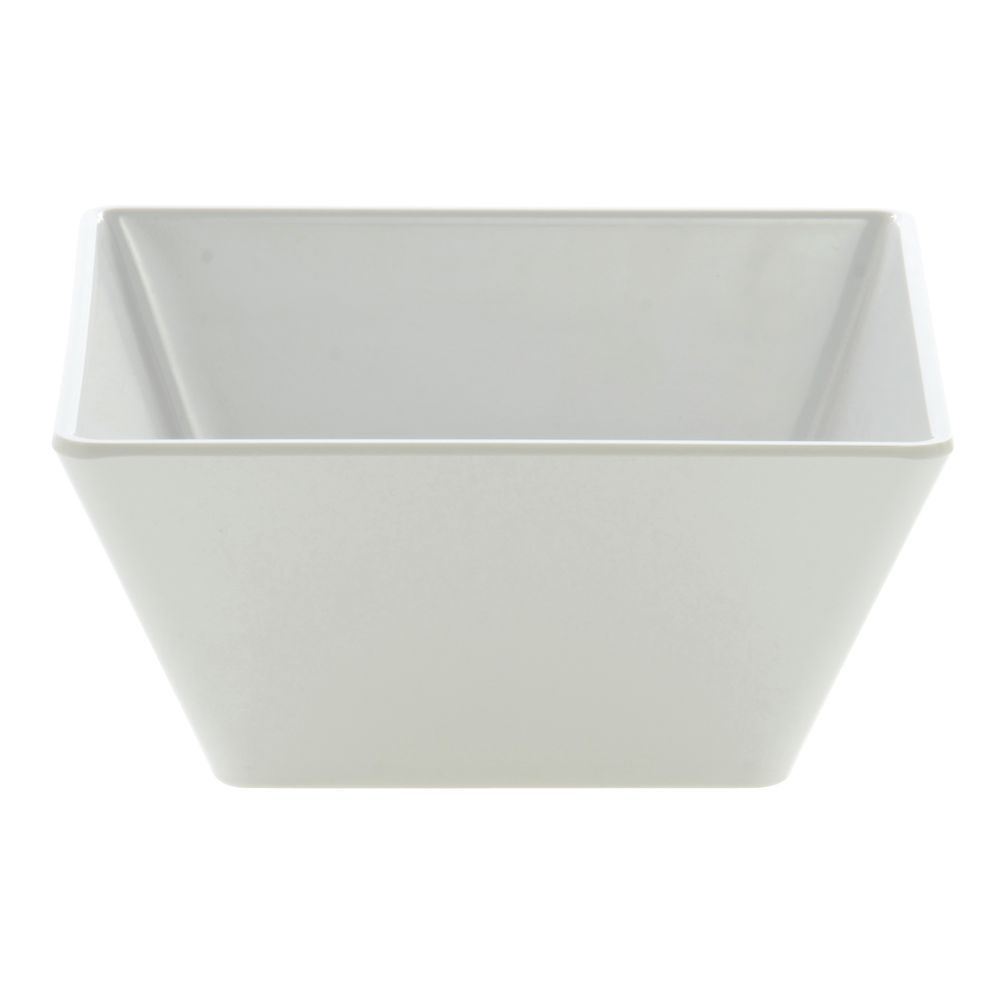 "BOWL, SQUARE, 5"", MELAMINE, WHITE, EH"