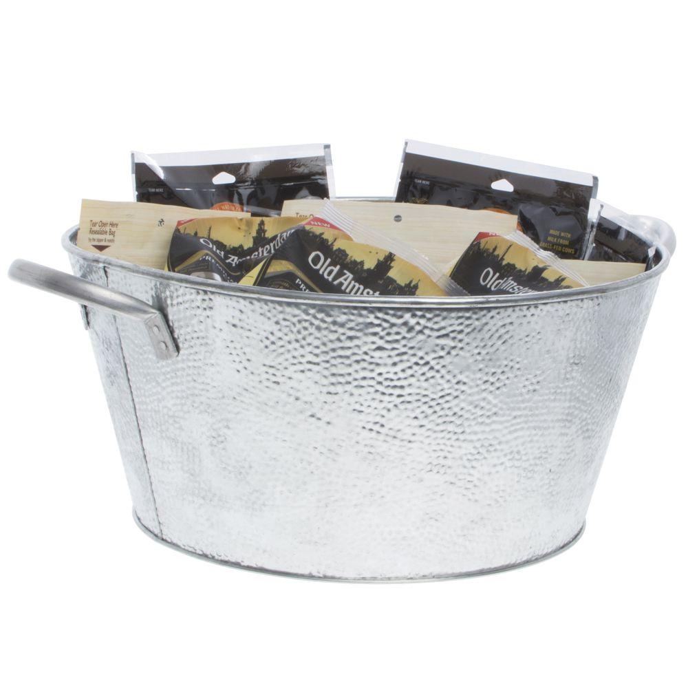 """TableCraft Oval Metal Beverage Tub 15""""L x 9""""W x 7 1/2""""H"""