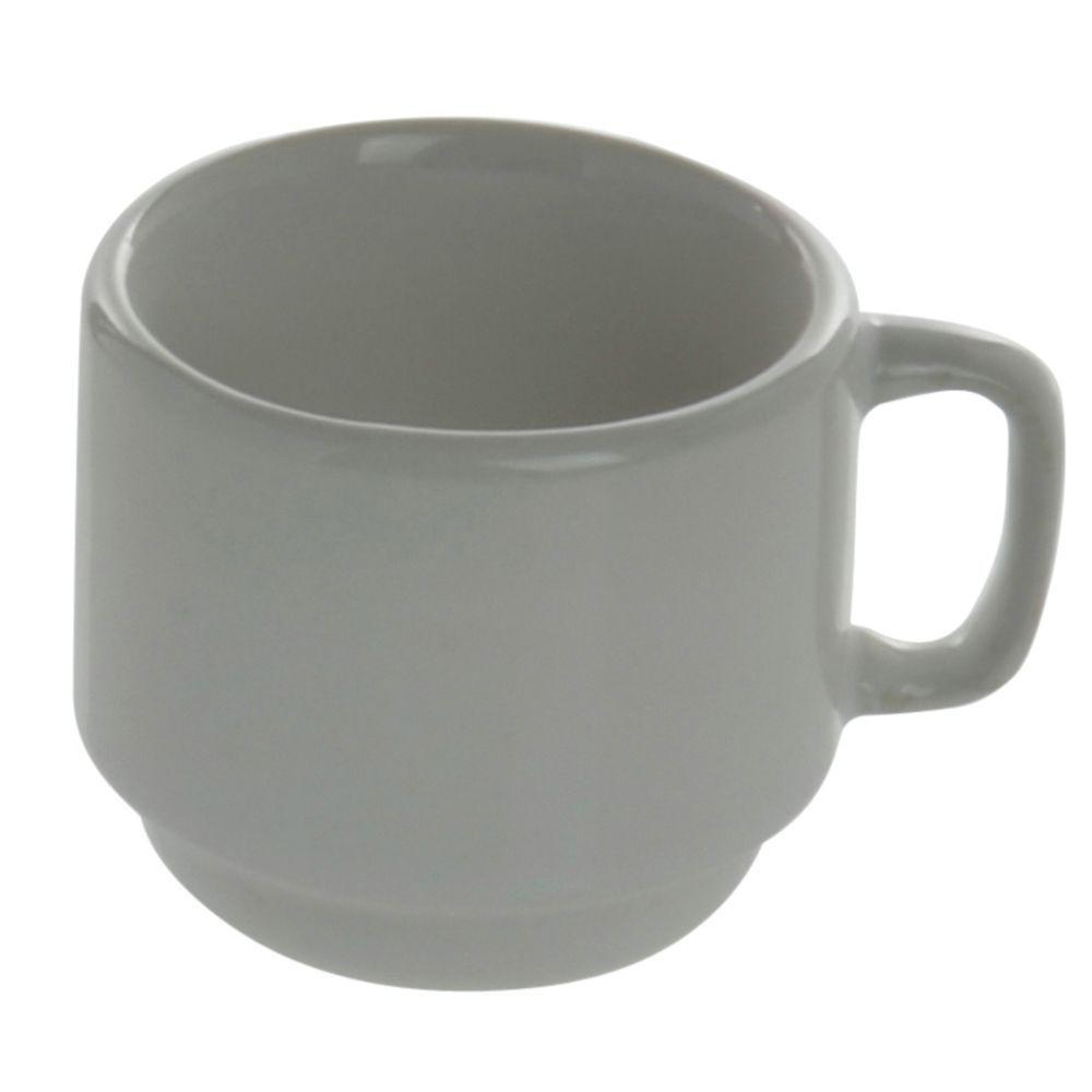 +CUP, STONWRE, STACKG, 7 OZ, RLEDGE, BRT WHT