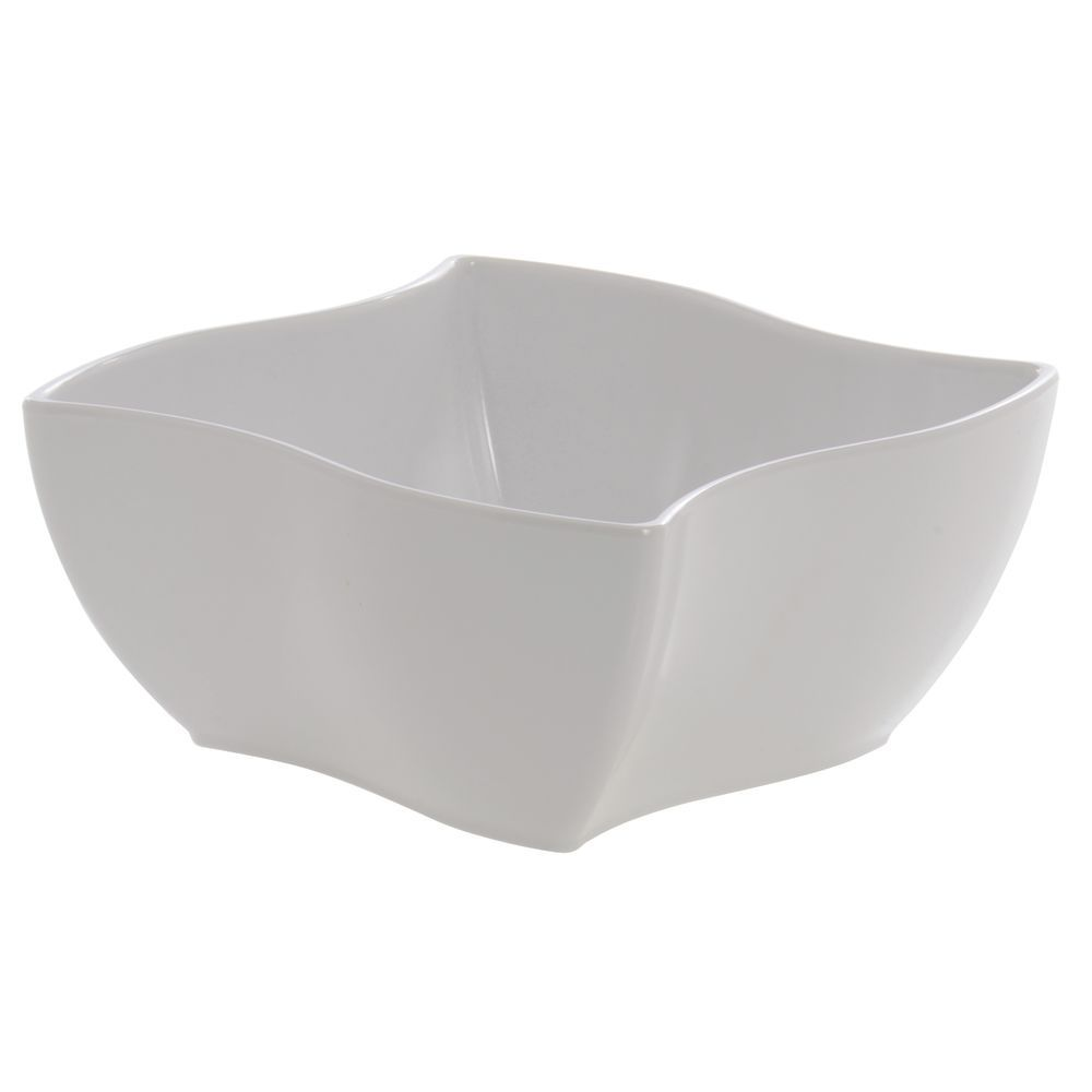 BOWL, WAVE, WHITE, MELAMINE, 96 OZ