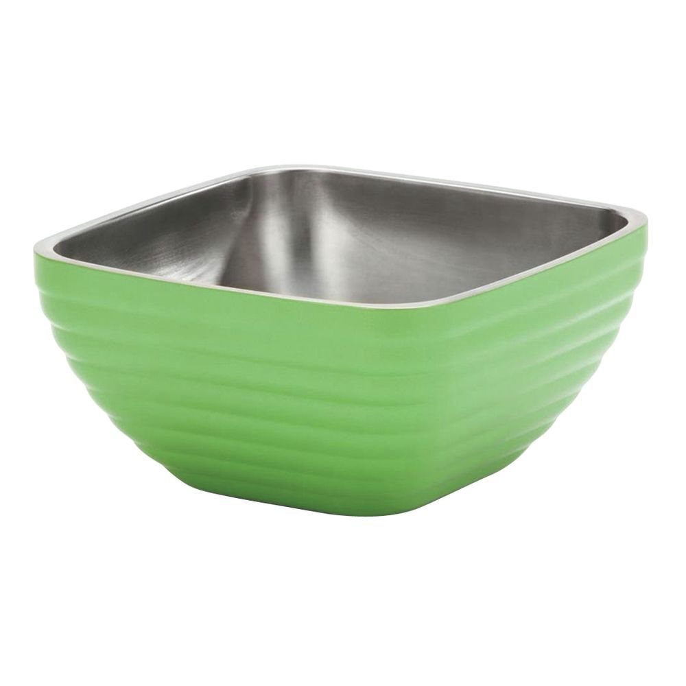 Vollrath Double-Wall Square Green Apple Stainless Steel Bowl - 9 5 ...