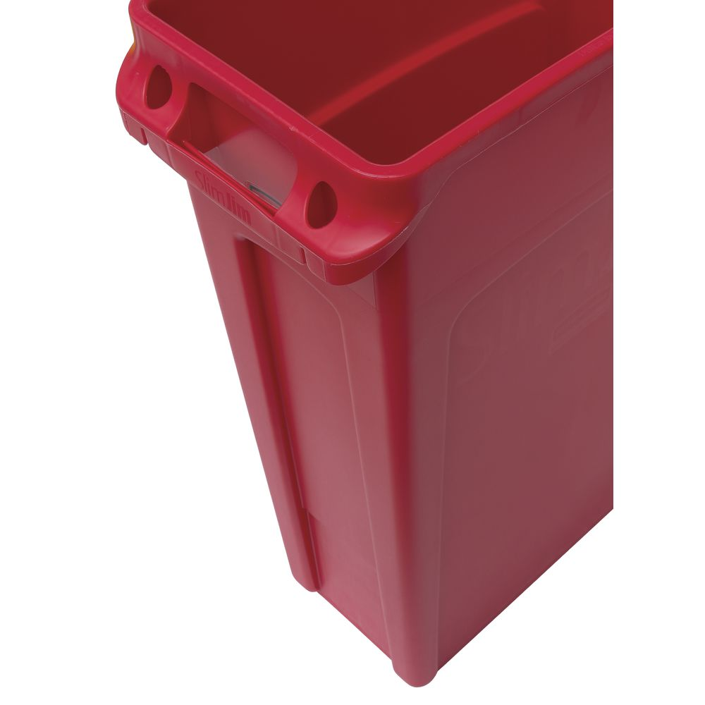 Rubbermaid® Slim Jim® 23 gal Red Plastic Trash Receptacle - 20