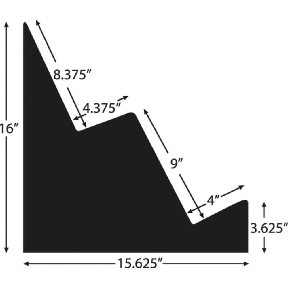 """RISER, BLK.ABS 2-STEP BULK 15.75X24X16""""H"""