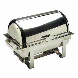 """CHAFER, RECT.W/FAUX ROLLTOP, 24.25X13.25"""""""