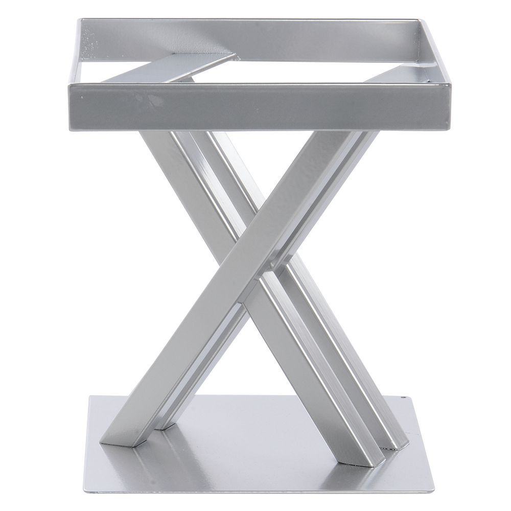 STAND, METAL, SQUARE, NICKEL, 7.75LX7.75WX9H
