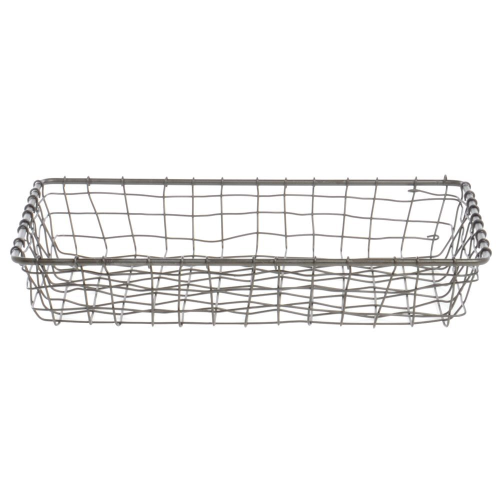 Expressly HUBERT Woven Steel Wire Bread Basket - 12L x 9W x 2H