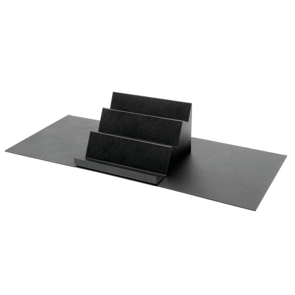 SHEET, 24LX30WX1/4H, BLACK SOLID ABS(HUB)