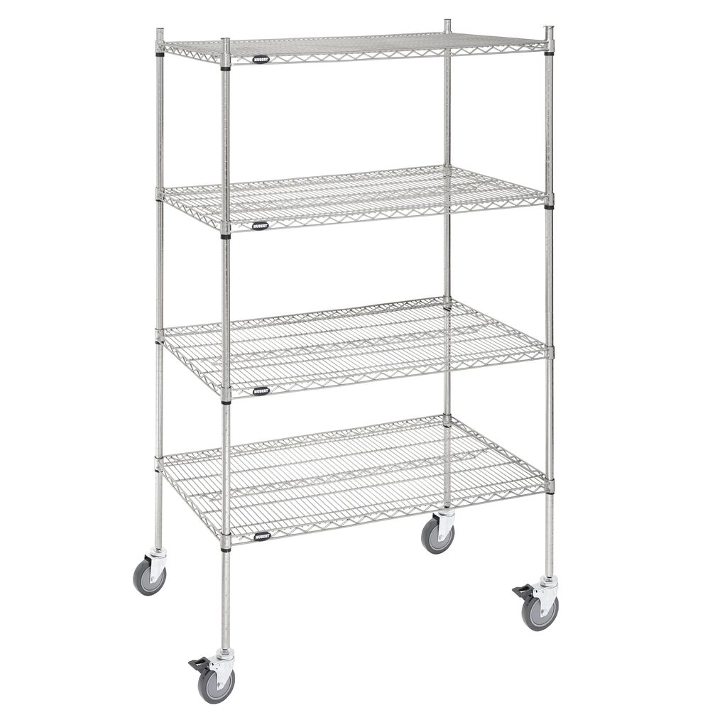 SHELF UNIT, 4-SH.MOBILE, SFT.SILV.24X48X80