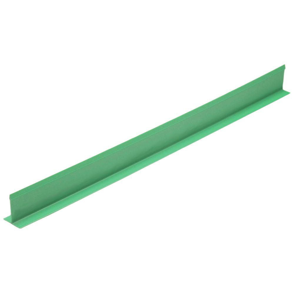 "Shelf Divider 30""L x 5""H T-Shaped Green Plastic"