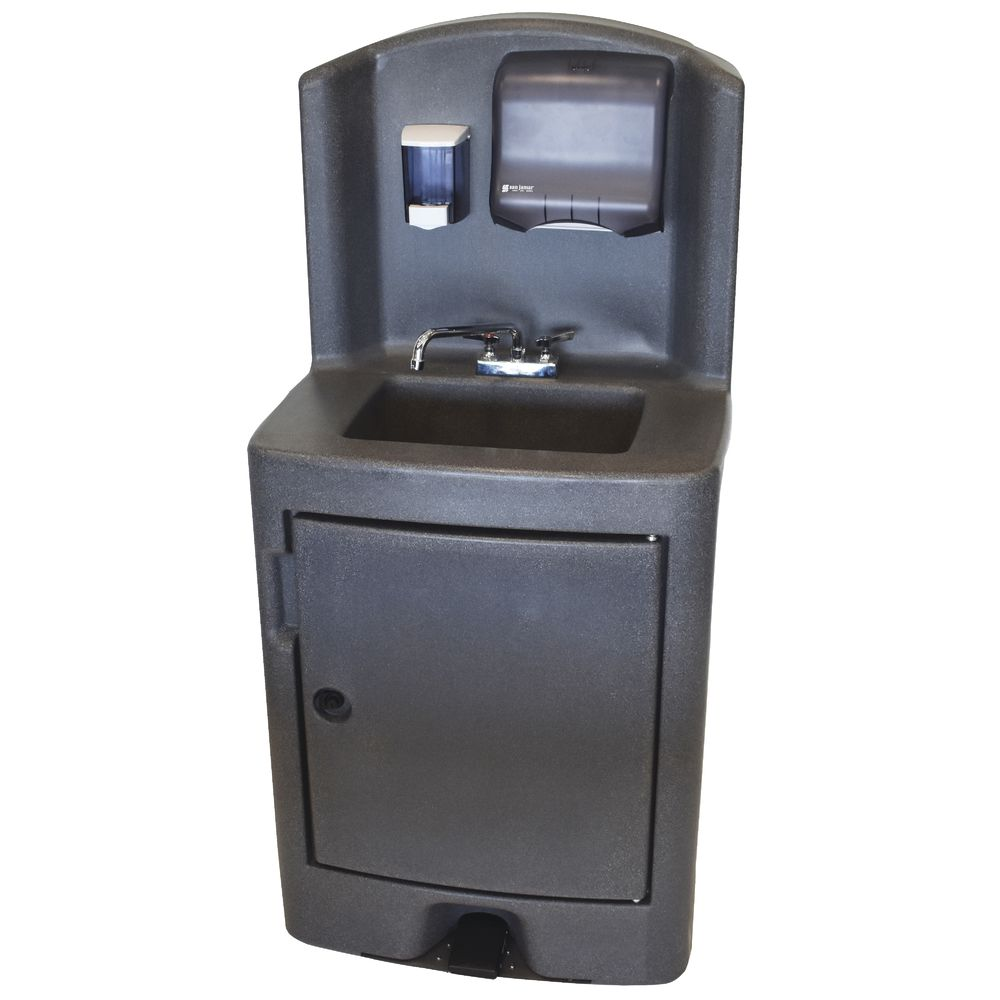 Crown Verity CV-PHS-5C Grey Plastic Portable Hand Sink