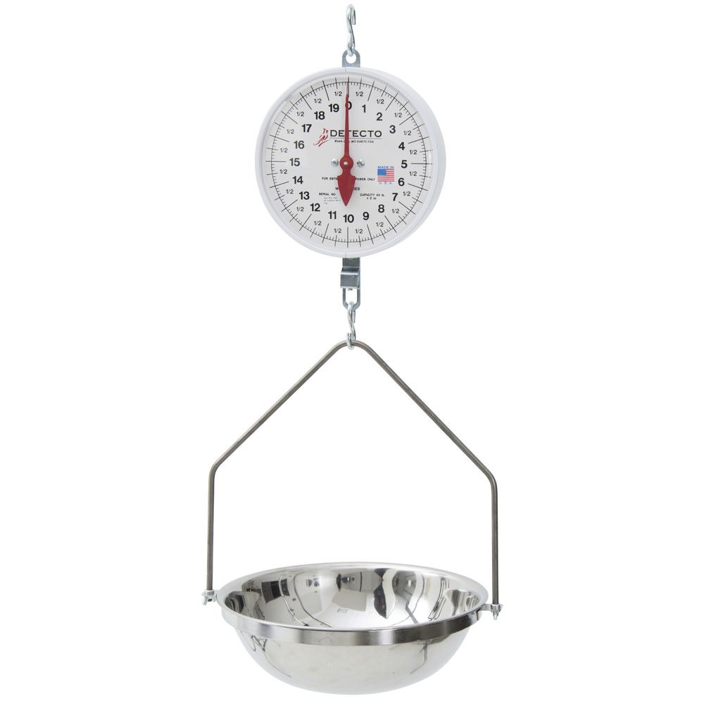 "SCALE, HANGING, 40 LB, 8"" DOUBLE DIAL"