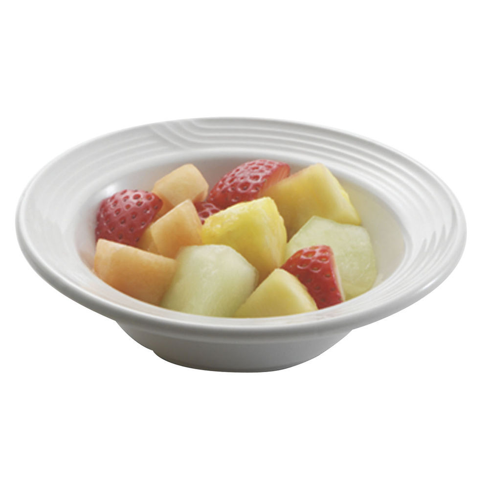 FRUIT DISH, 5-3/4 OZ., EMBOSSED, WHITE