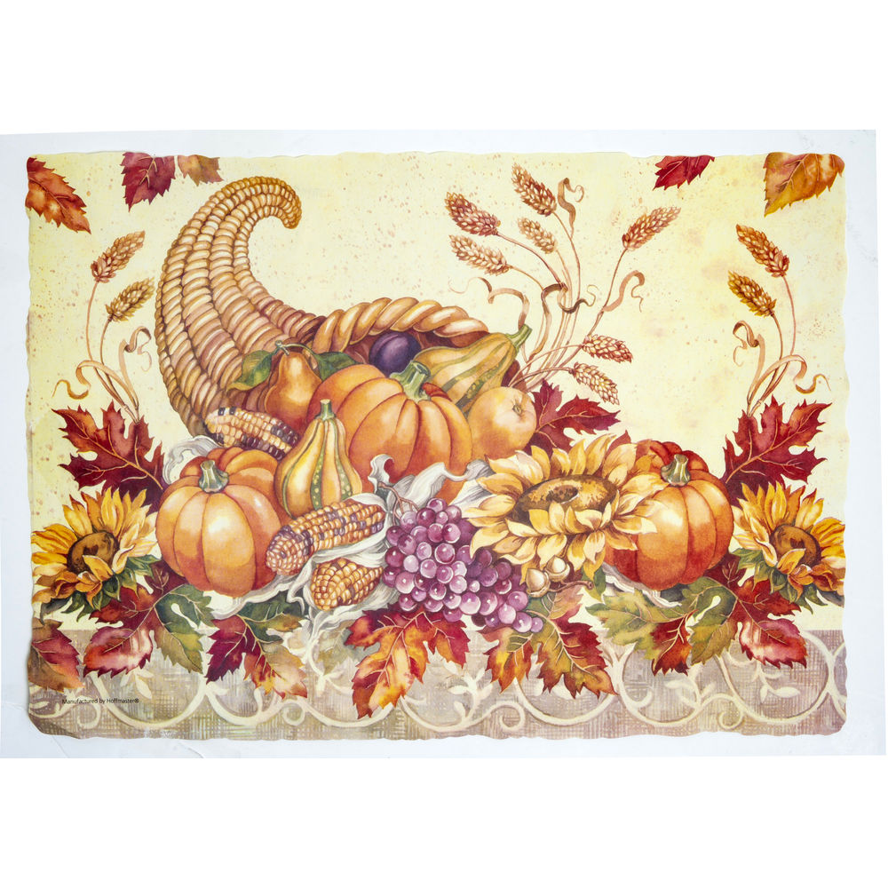 """PLACEMAT, FALL BOUNTY 9.75"""" X 14"""""""