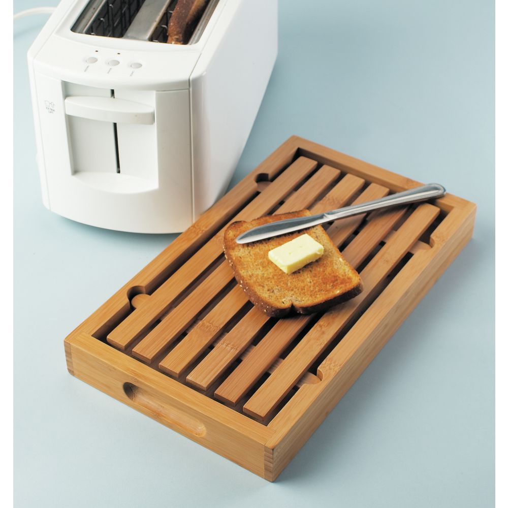 This Bread Cutting Board has a Removable Top Slat
