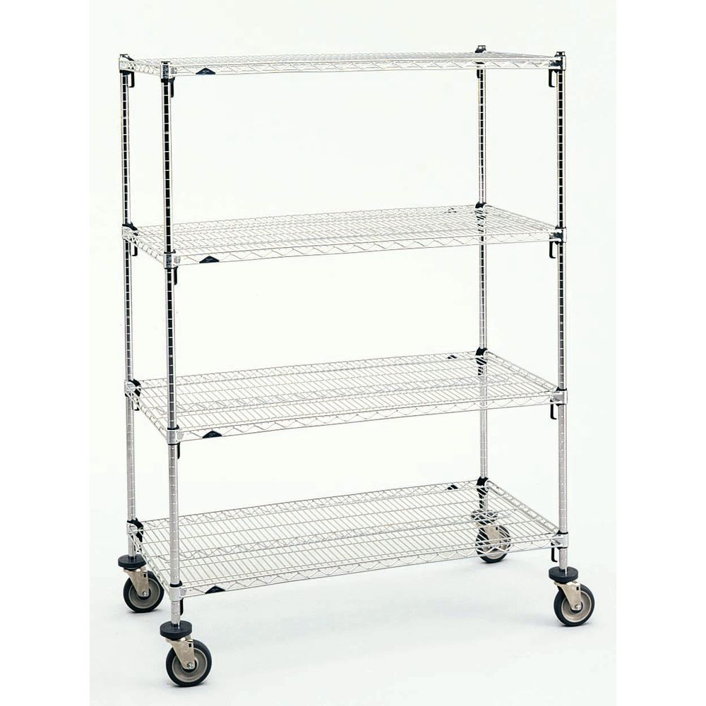 Metro Super Adjustable Super Erecta™ Chrome-Plated Wire Cart - 60\