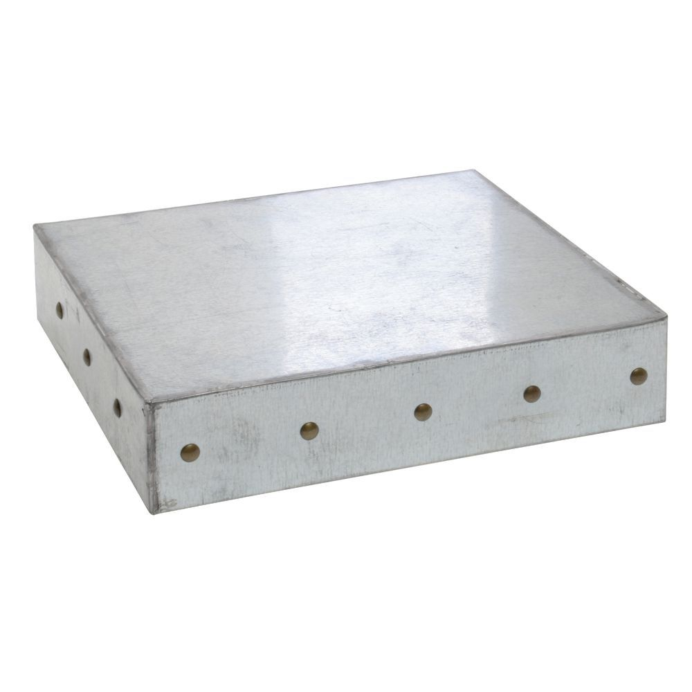 "BOX, 1/2 SIZE, 3""D, GALVANIZED CHIC"