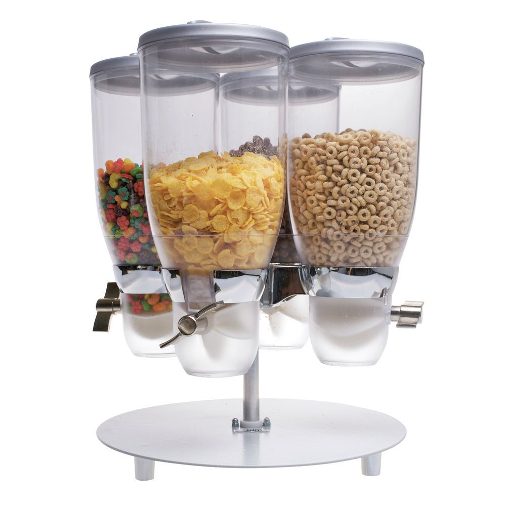 DISPENSER, CEREAL, ROUND, 4 CONTAINERS, 1GAL