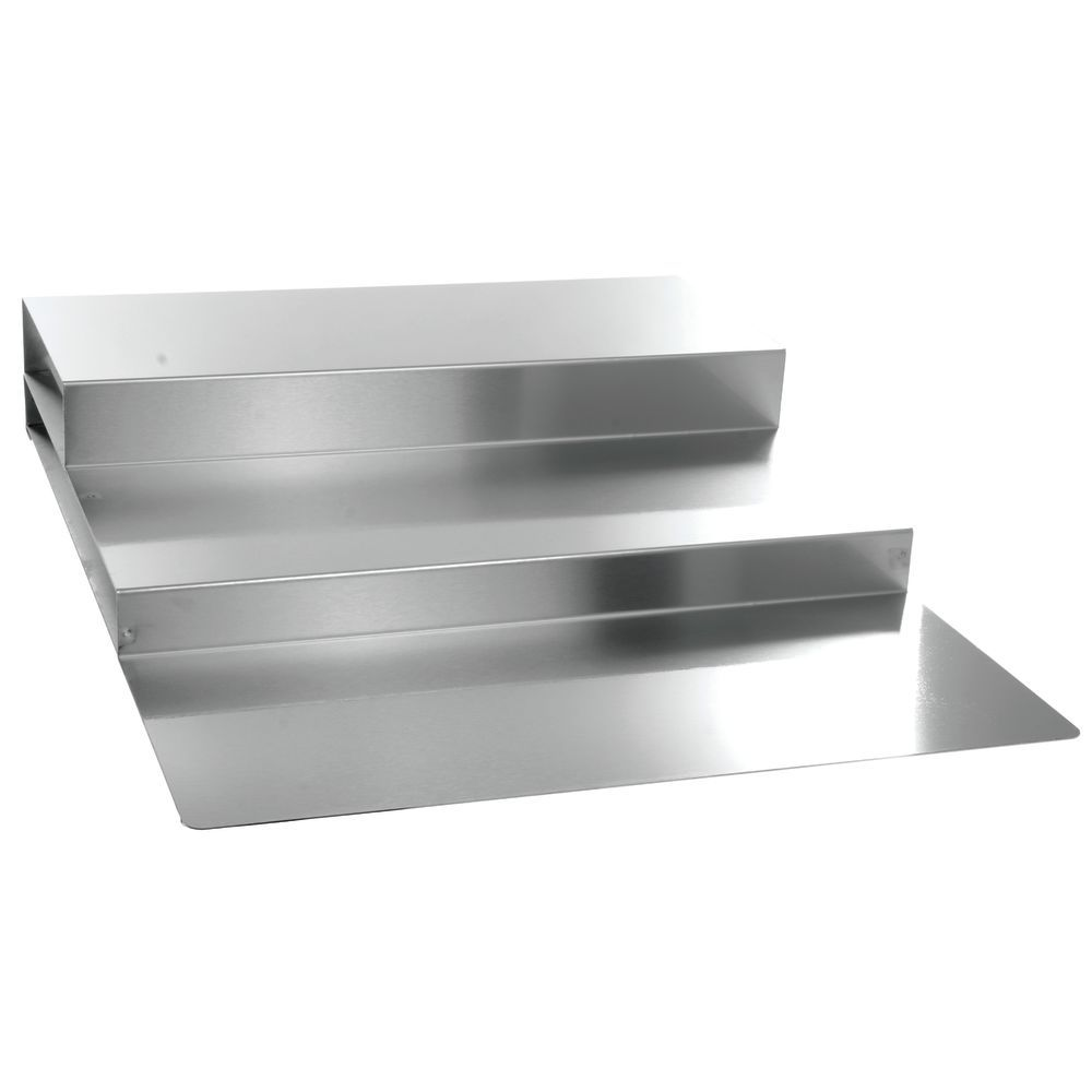 "Stainless Steel Pan 3-Step Riser 30""L x 24""W x 5""H"