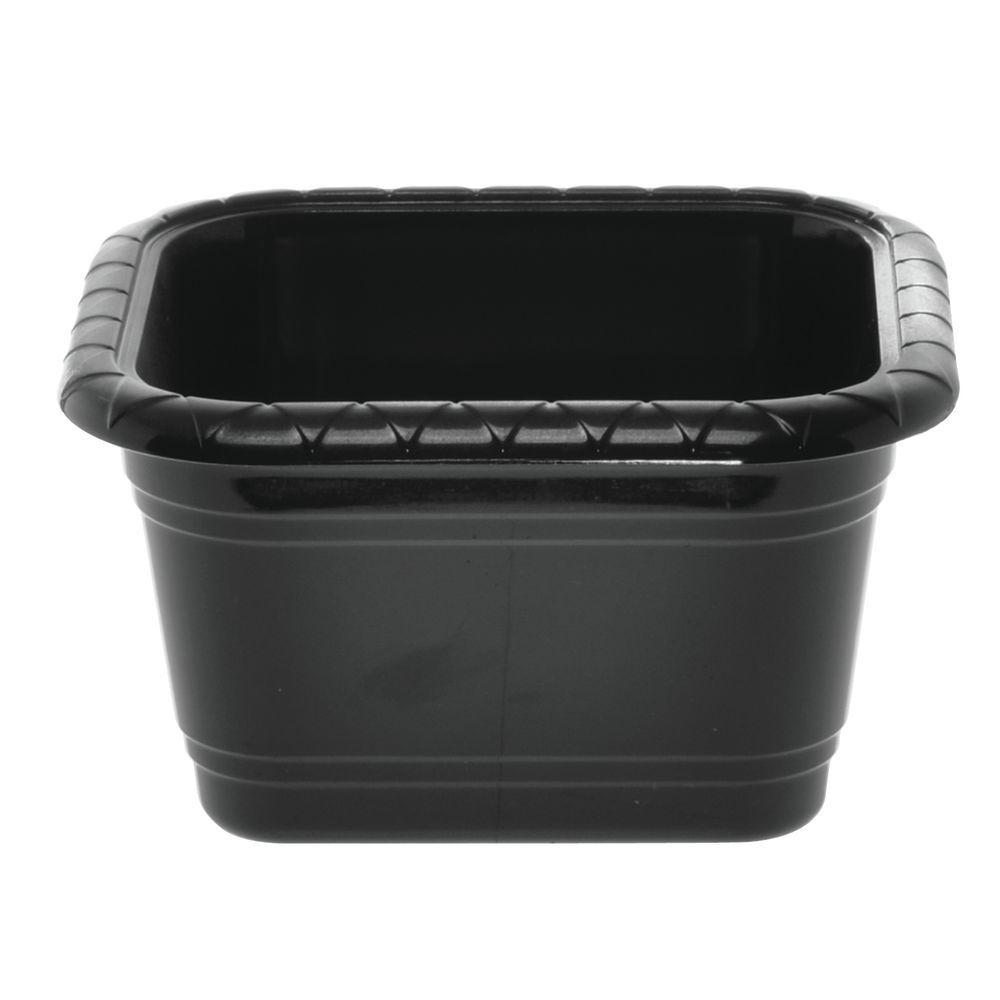 "Dalebrook Gastronorm Size Plastic Sixth Size Crock in Black 7""L x 6 1/2""W x 4""H"