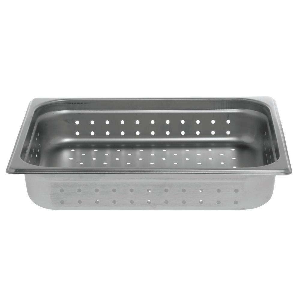 """Hubert® Stainless Steel Steam Table Pans Perforated Half Size 2 1/2""""D"""