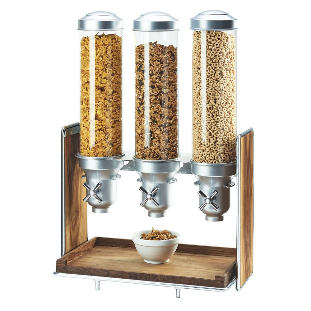 CEREAL DISPENSER, MID-CENTURY, CHROME