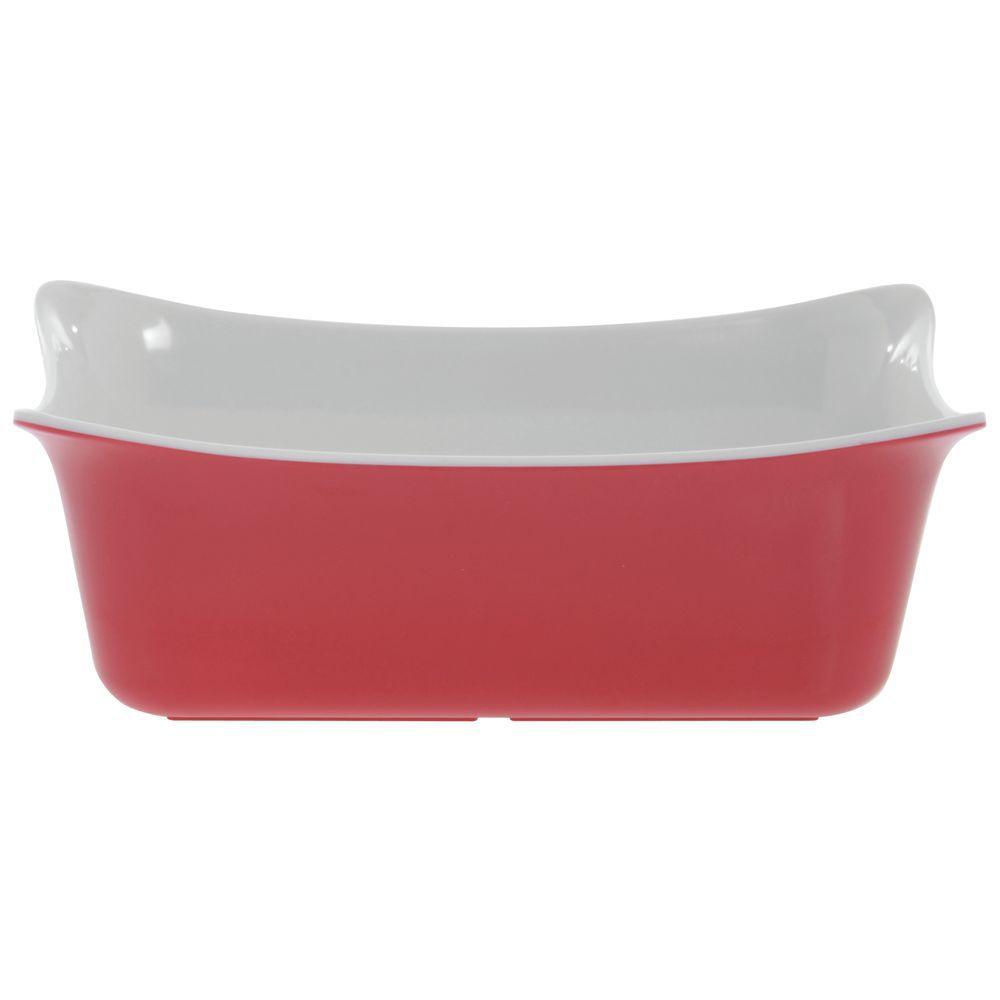 CROCK, FLEUR, MELAMINE, RED + WHITE, 1L