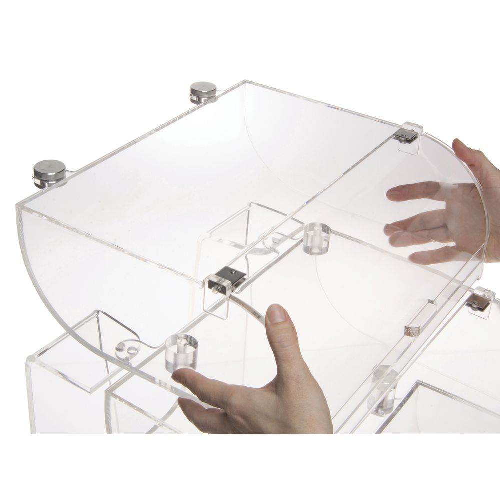 Acrylic Bakery Display Case with Triple-Curved Front