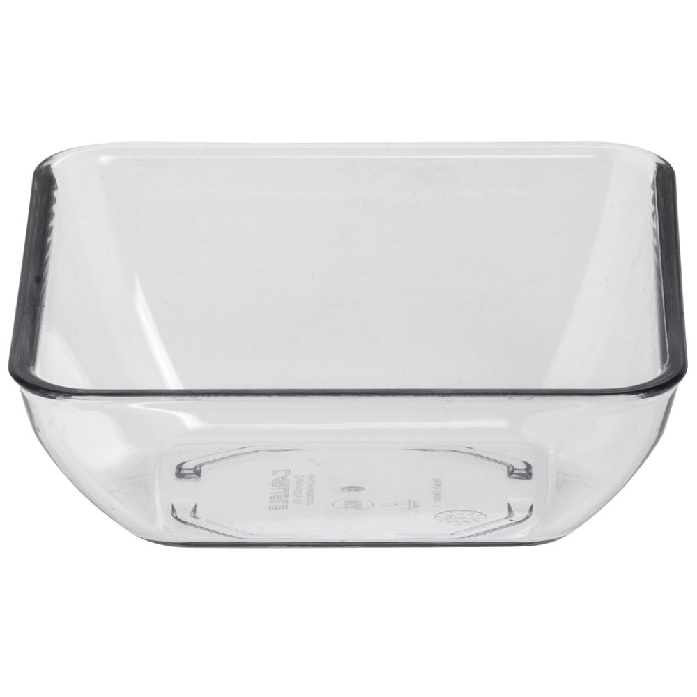 BOWL, SQUARE, 6 OZ, CLEAR