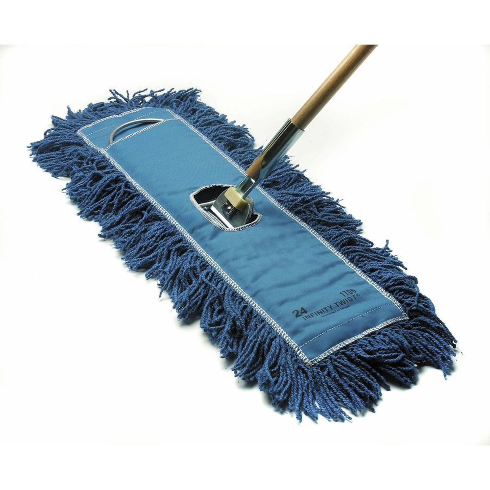 HUBERT® Blue Infinity Twist® Cotton Yarn Dust Mop - 24