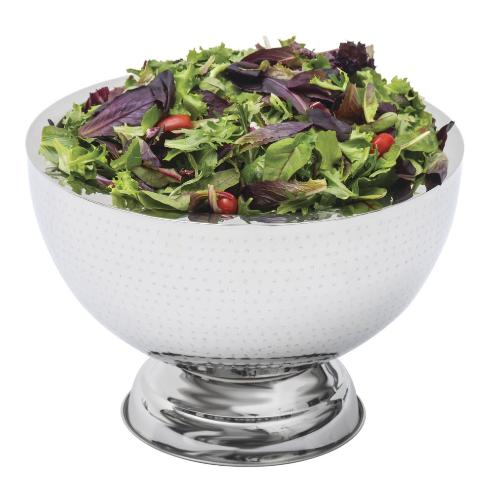 Hubert® Hammered Punch Bowl Stainless Steel 15L