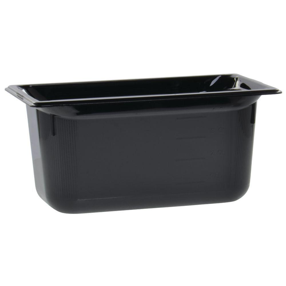 "Vollrath Super Pan Black Steam Table Pan High Temp 1/3 Size Long 6""D"