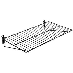 SHELF SLATWALL 24X12 BLACK WIRE