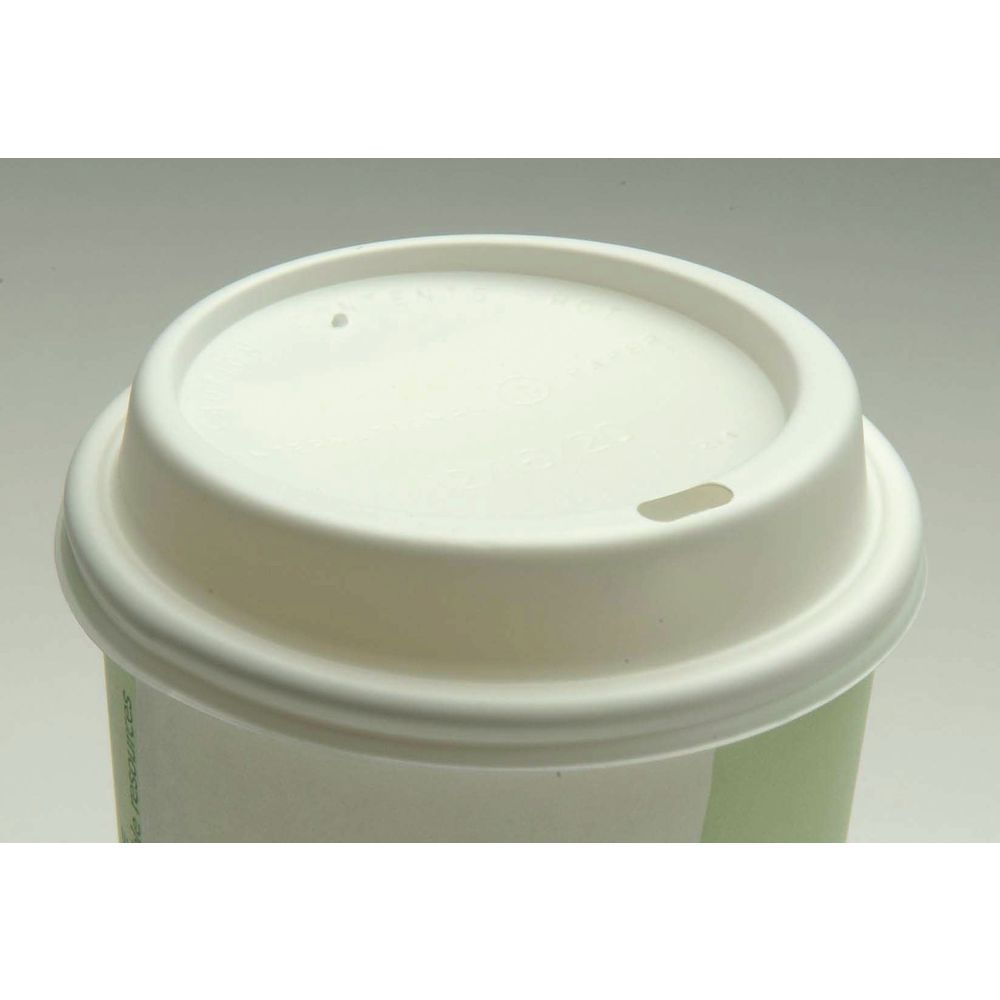 LID, DOME, WHITE, FOR 10/12/16/20 OZ CUPS