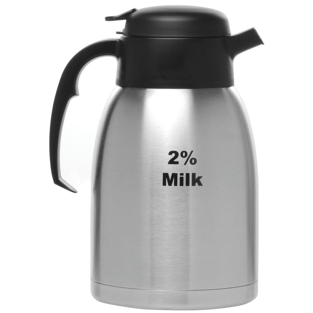 CARAFE, STEELVAC, 1.5 LITER W/2% MILK