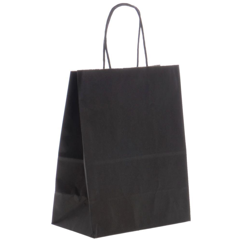 Matte Black Kraft Paper Shopping Bag 8 L X 4 3 4 D X 10 1 2 H