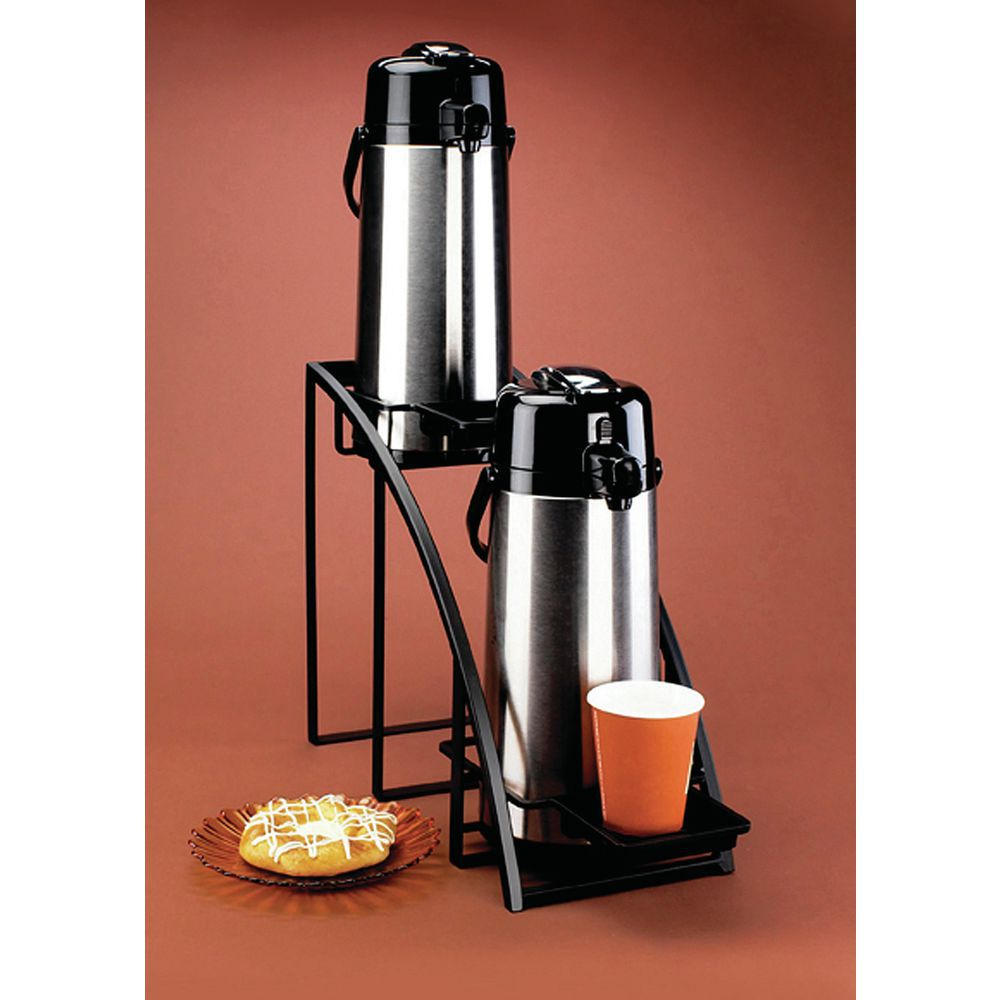 Durable Black Airpot Rack