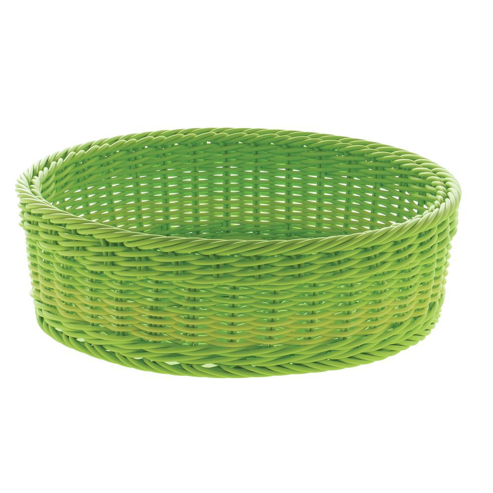 7738eb98ad4 Expressly HUBERT® Round Synthetic Green Wicker Sushi Display Basket ...