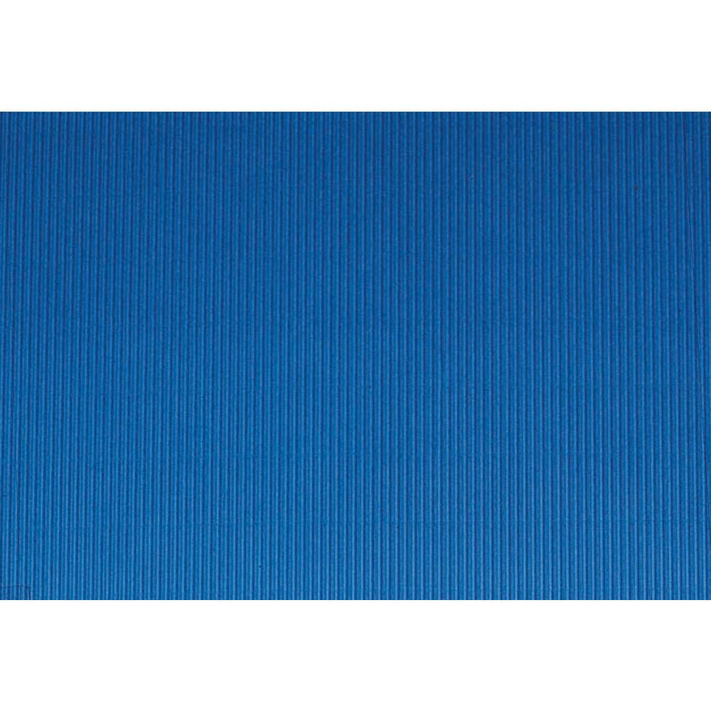 "Corobuff Valance Rich Blue 45'L x 8 1/2""W Corrugated Paper"
