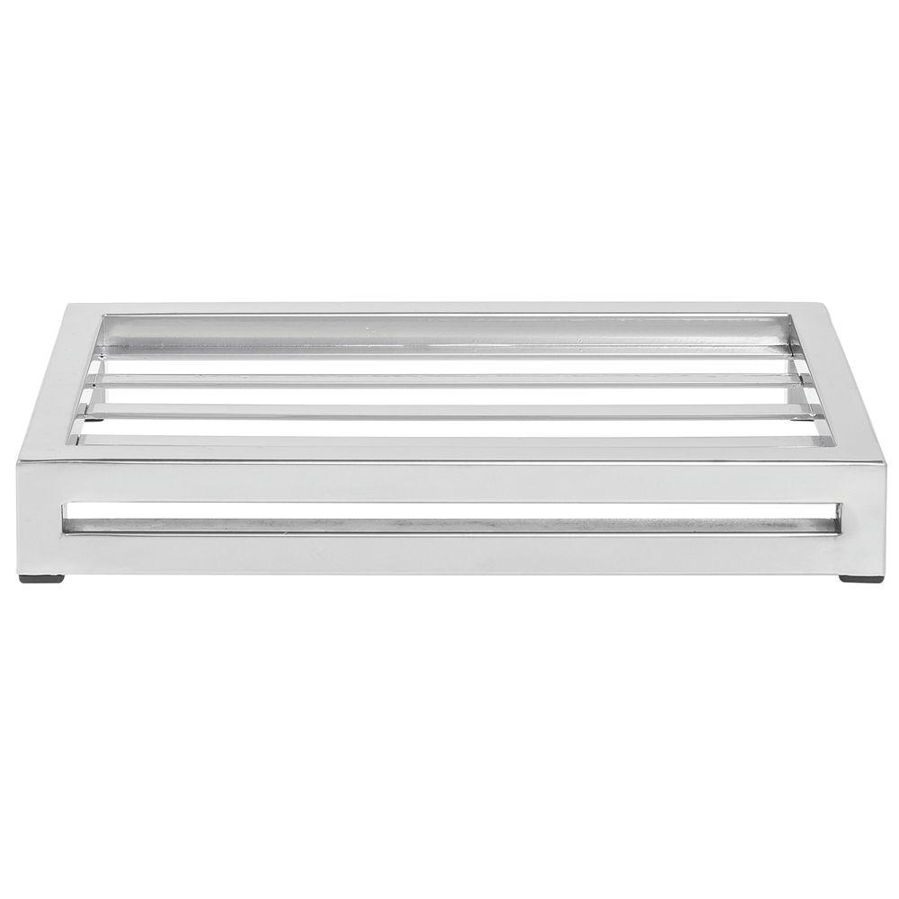 "Expressly Hubert® Display Riser Silver 6""L x 12""W x 2""H"