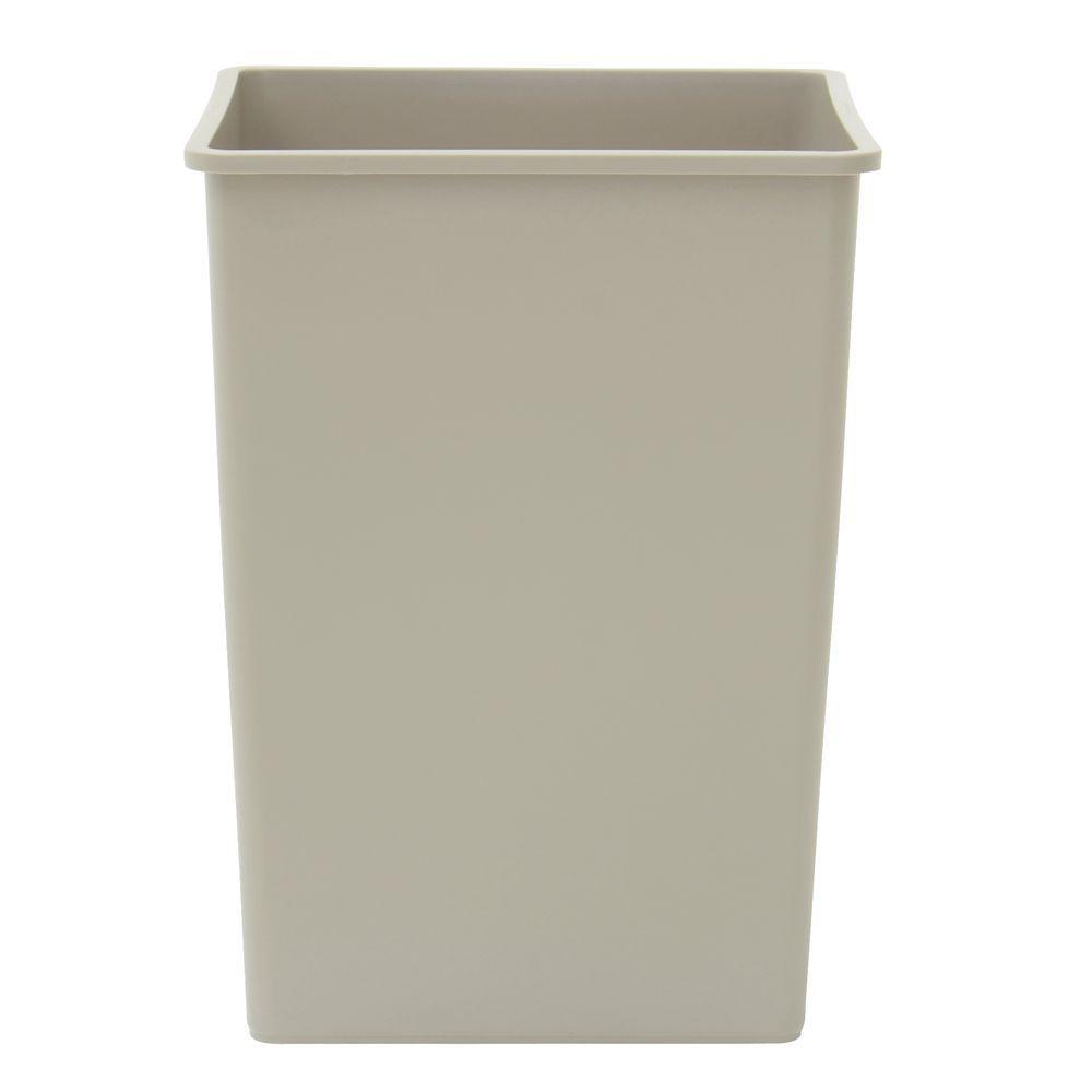 Rubbermaid 395800BEIG 35 gal Beige Plastic Untouchable® Indoor Trash ...