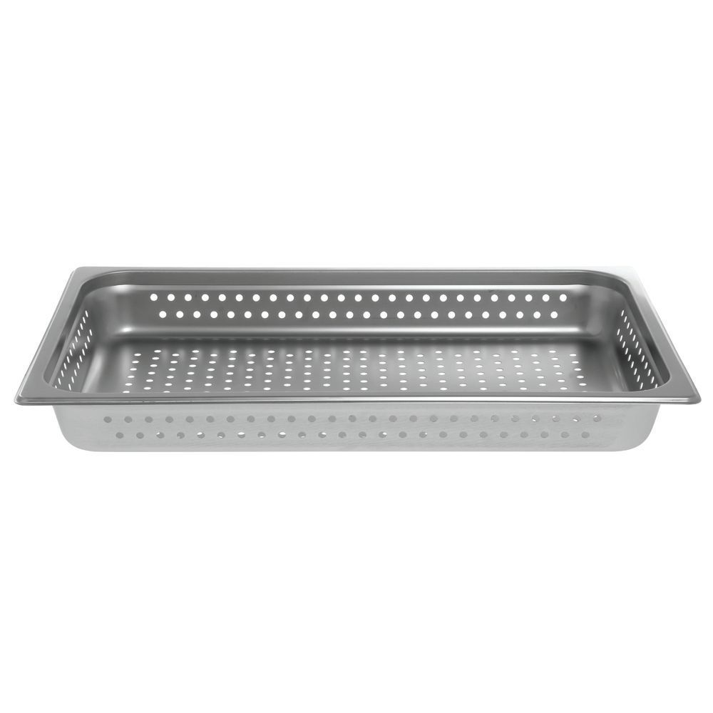 "Hubert Steam Table Pan Full Size Perforated 2 1/2""D"