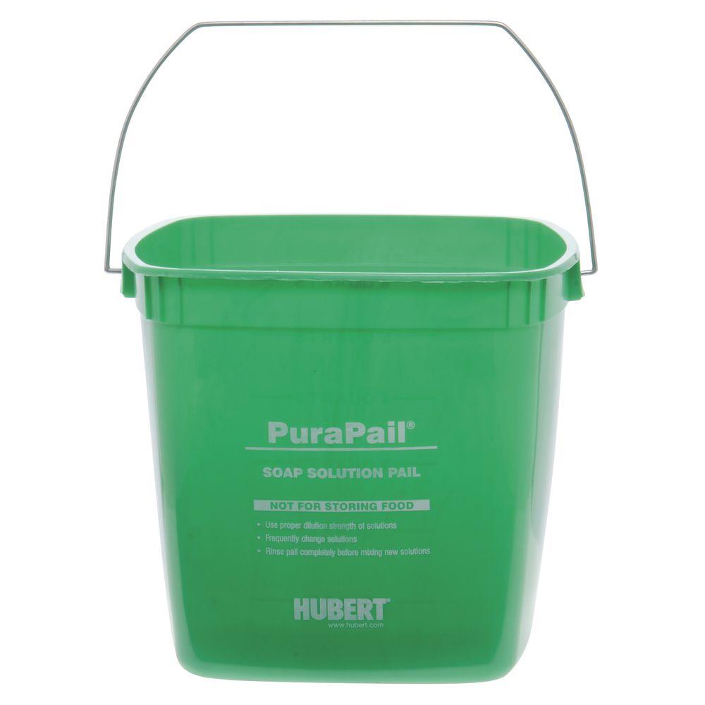 HUBERT 6 qt Green Plastic Cleaning Utility Bucket