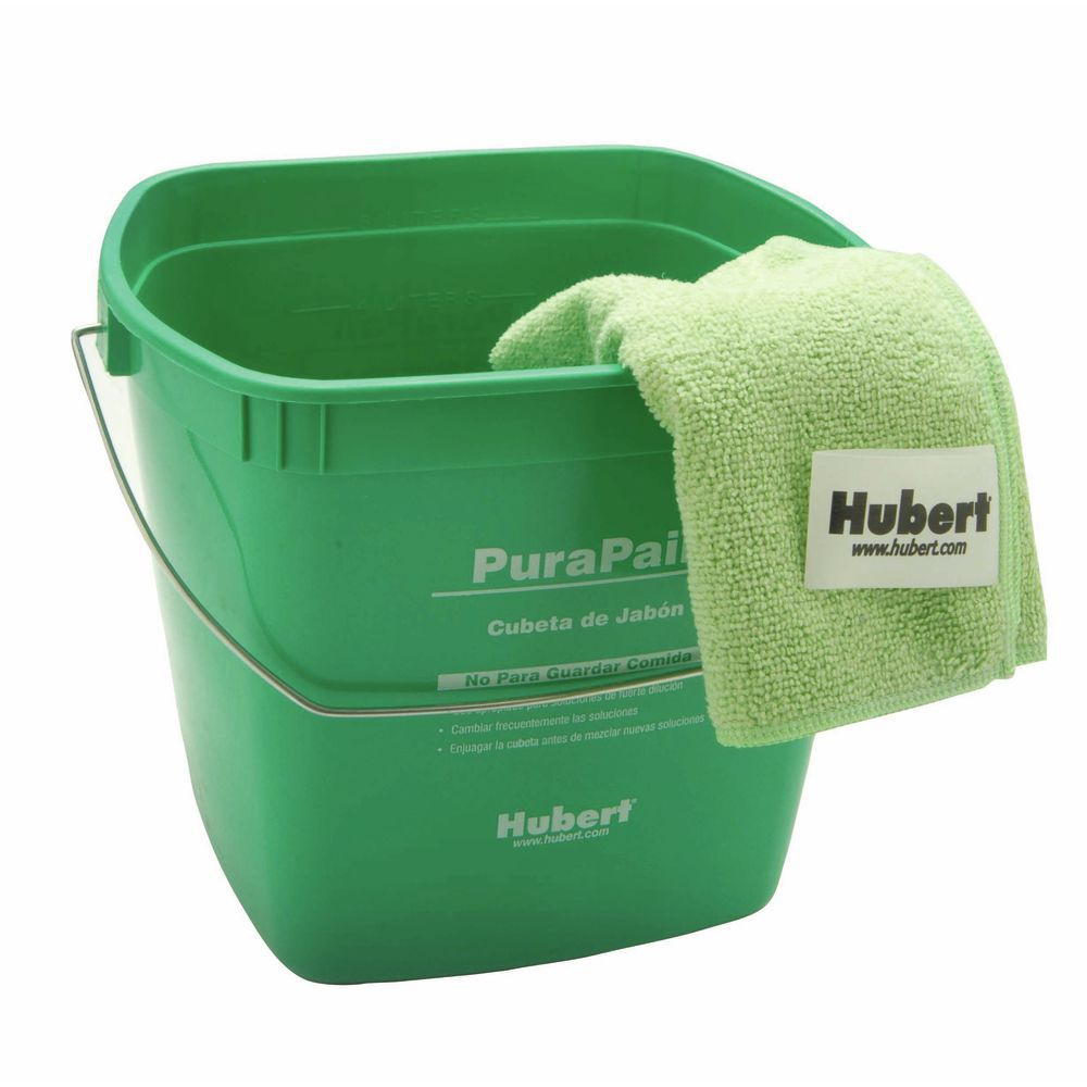 Hubert Plastic Bucket Is 6qt Green For Cleaning