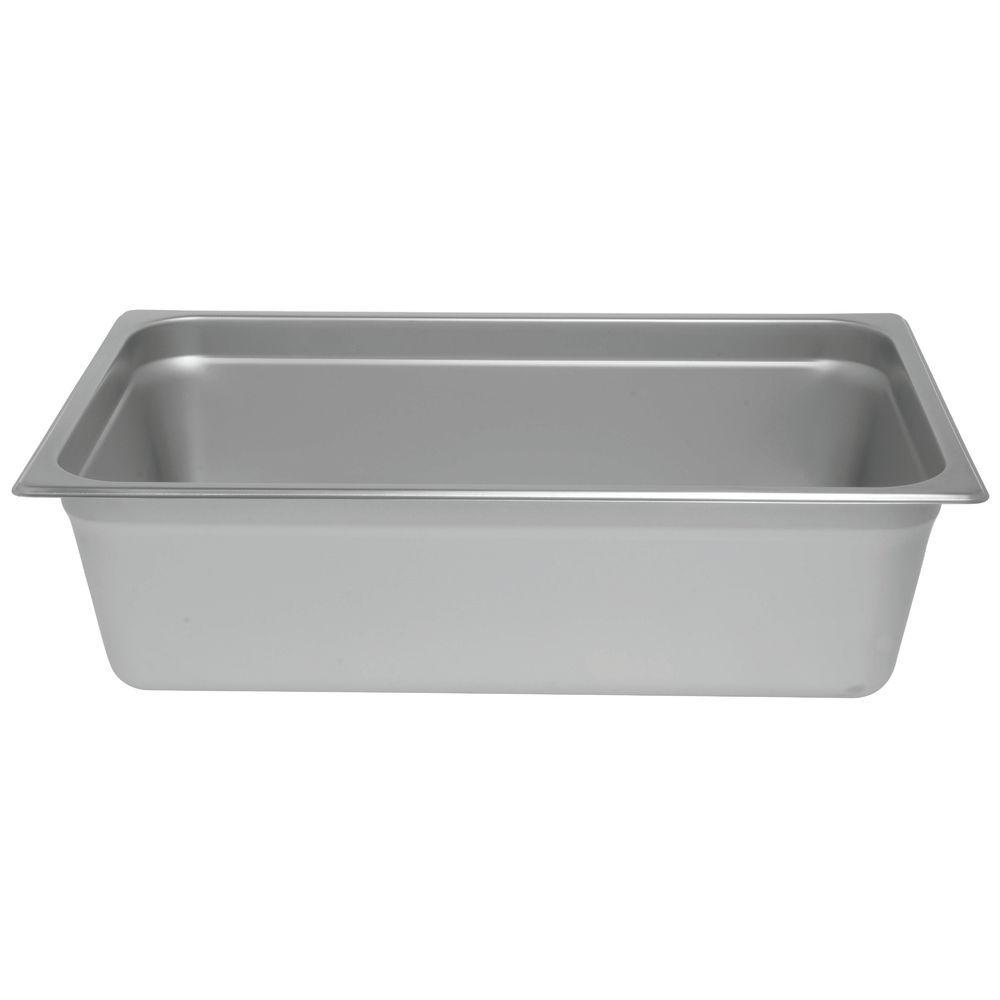 """PAN, STEAM TABLE, FULL, S/S, 24 GAUGE, 6""""D"""